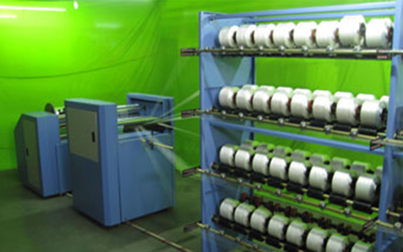 Lycra Warping for Narrow Fabric